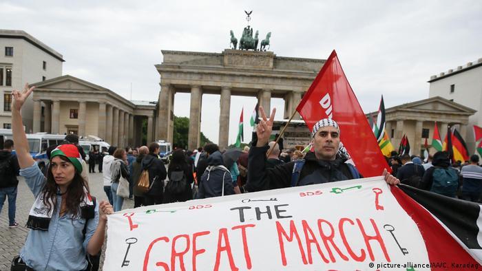 Protest in Berlin gegen israelische Gewalt im Gazastreifen (picture-alliance/AA/C. Karadag)