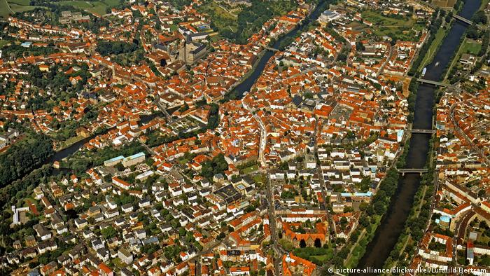 A bird's eye view of Bamberg (picture-alliance/blickwinkel/Luftbild Bertram)