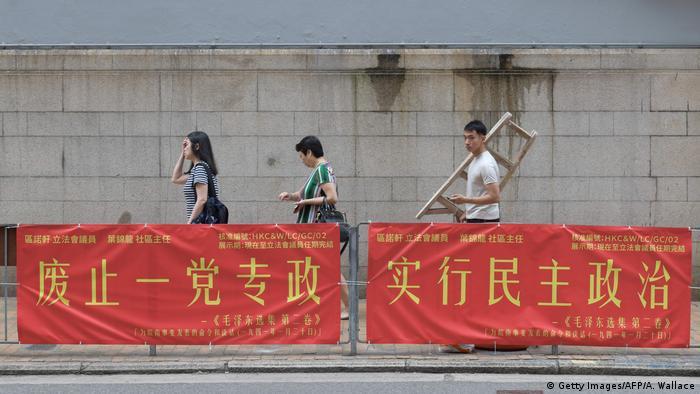 Hongkong Aktivisten für Demokratie