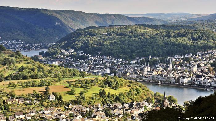 Deutschland Rheinschleife mit der Stadt Boppard