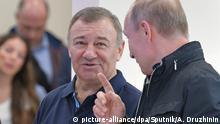 Russland Wladimir Putin und Arkady Rotenberg