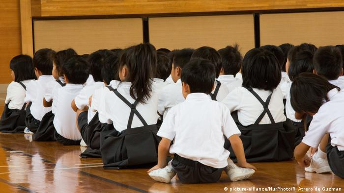 Japan Symbolbild Schulkinder (picture-alliance/NurPhoto/R. Atrero de Guzman)