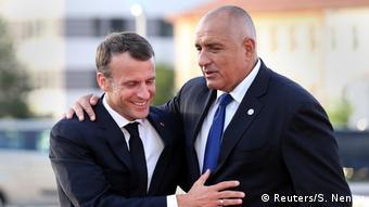 Bulgarien EU-Balkan-Gipfel in Sofia | Borisov und Macron (Reuters/S. Nenov)