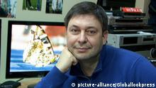 May 15, 2018. - Ukraine. - Ukraine's security service investigators have issued official charges with high treason to the Editor-in-Chief of RIA Novosti Ukraine news agency Kirill Vyshinsky. SBU press service said earlier on Tuesday Kirill Vyshinsky had been detained. Somewhat later, reports spoke of searches in the Kiev office of the news agency and at the apartment of reporter Lyudmila Lysenko. In picture: journalist Kirill Vyshinsky. Photo from Kirill Vyshinsky/facebook.com | Verwendung weltweit, Keine Weitergabe an Wiederverkäufer.