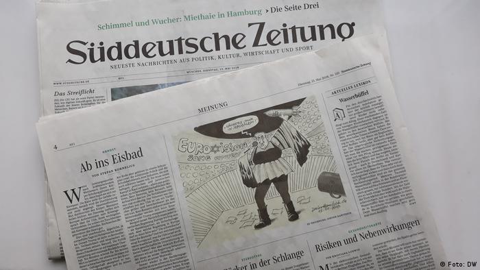"""Karykatura Benjamina Netanjahu w """"Sueddeutsche Zeitung"""" wywołała falę oburzenia"""