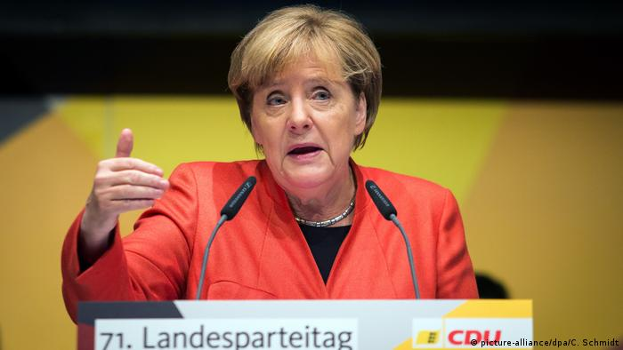 CDU Chancellor Angela Merkel (picture-alliance/dpa/C. Schmidt)