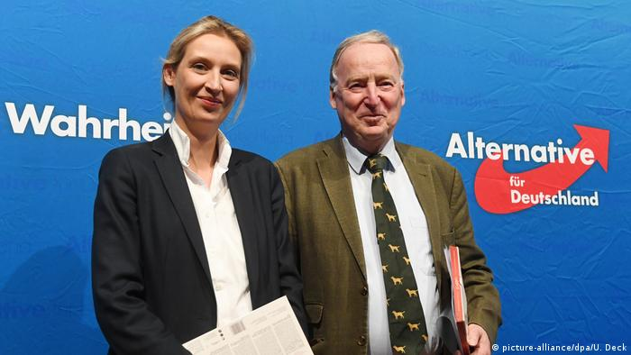 AFD leaders Alice Weidel and Alexander Gauland (picture-alliance/dpa/U. Deck)