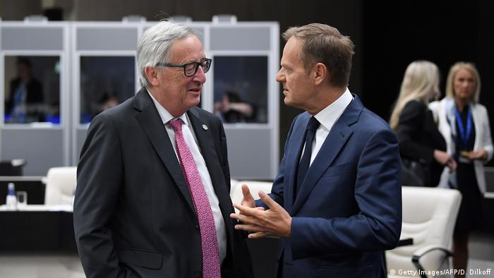 Jean-Claude Juncker and Donald Tusk (Getty Images/AFP/D. Dilkoff)
