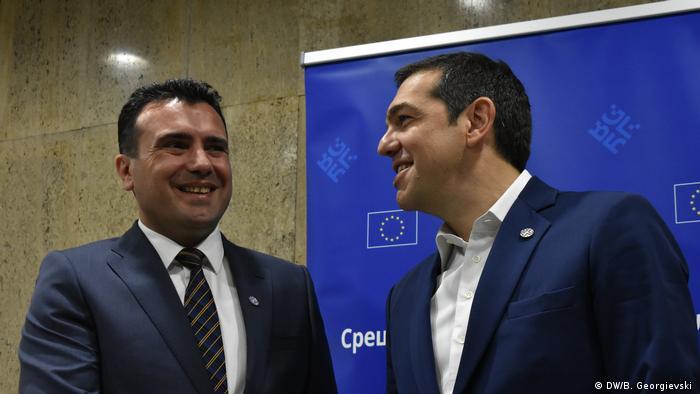 Der mazedonische Ministerpräsident Zoran Zaev mit seinem griechischen Kollegen, Alexis Tsipras in Sofia