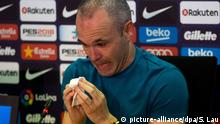 FC Barcelona player Andres Iniesta