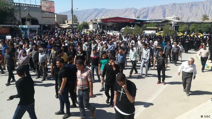 Iran Kazeroon Demonstrationen