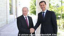 Russland Wladimir Putin & Baschar al-Assad in Sotschi