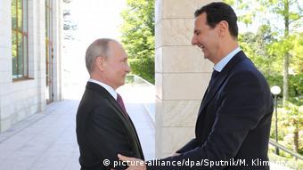 Владимир Путин и Башар Асад в Сочи, май 2018 года