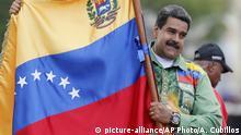 Venezuela Wahlkampf Maduro Fahne