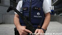 Belgien Mons bewaffneter Polizist