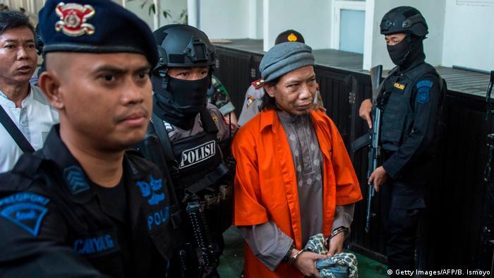 Indonesien Aman Abdurrahman, inhaftierter islamistischer Prediger (Getty Images/AFP/B. Ismoyo)