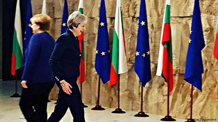 Gipfel EU- Westbalkan Merkel und May in Sofia
