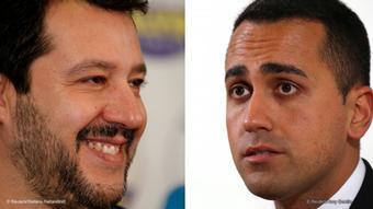 Kombobild Matteo Salvini Luigi Di Maio