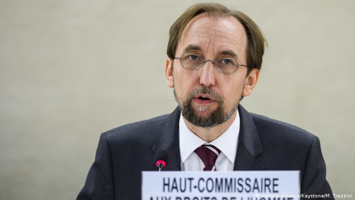 UN-Hochkommissar Menschenrechte Said Raad al-Hussein (picture-alliance/Keystone/M. Trezzini)