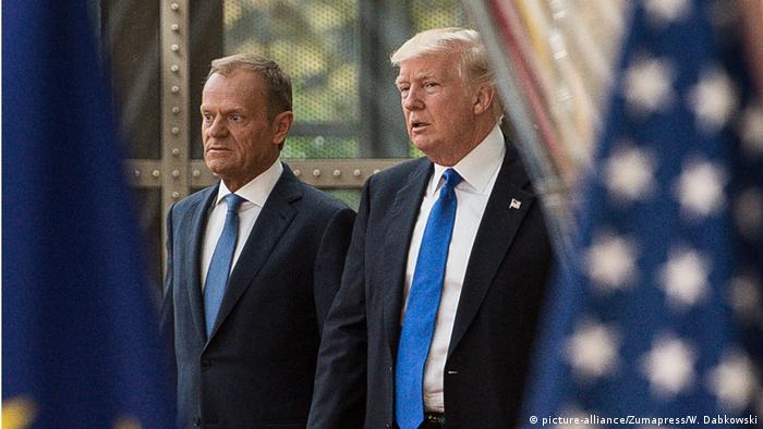 Donald Tusk y Donald Trump en imagen de archivo.