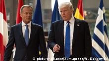 Treffen Trump mit EU-Spitzen Verhältnis EU-USA
