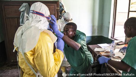Kongo Ebola Behandlungszentrum in Bikoro (picture-alliance/AP Photos/UNICEF/Mark Naftalin)