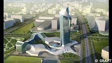 DESERT CANYON RESORT Bildhinhalt: GRAFT Entwurf einer Hotelanlage in Dubai (bisher nicht verwirklicht) Copyrigh: GRAFT GmbH