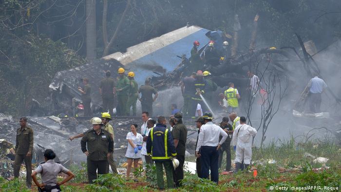Kuba Havanna - Flugzeug beim Start abgestürzt