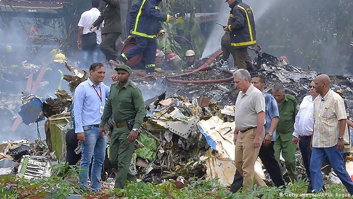 На месте крушения самолета вблизи Гаваны