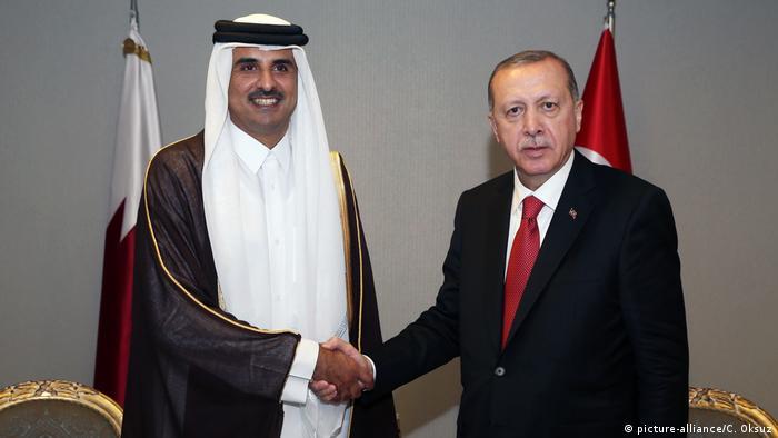 Türkei, Istanbul: Islamkonferenz: Recep Tayyip Erdogan trifft Qatari Emir Sheikh Tamim bin Hamad al-Thani (picture-alliance/C. Oksuz)