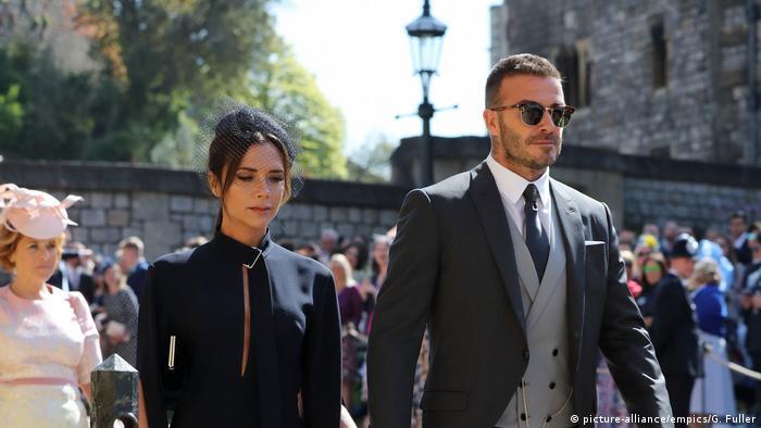 Bildergalerie Royal Hochzeit von Prinz Harry und Meghan Markle | Victoria und David Beckham (picture-alliance/empics/G. Fuller)