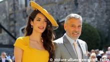 Bildergalerie Royal Hochzeit von Prinz Harry und Meghan Markle | Amal Clooney und George Clooney