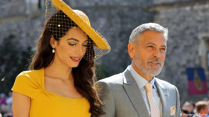 Amal Clooney and George Clooney (Reuters/G. Fuller)