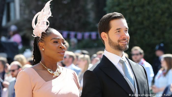 Serena Williams and husband at wedding of Prince Harry and Meghan Markle (picture-alliance/empics/G. Fuller)