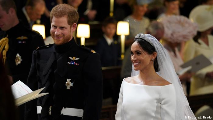 Prince Harry and Meghan Markle exchange vows (Reuters/J. Brady)