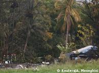На місці падіння літака на Кубі