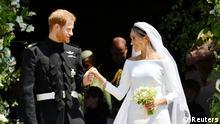 UK | Hochzeit Prinz Harry & Meghan Markle | Brautpaar vor der Kirche