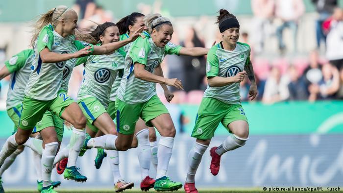 Wolfsburg celebrate their win