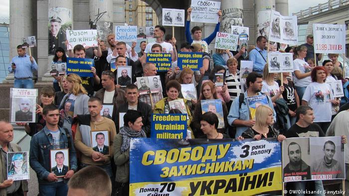 Ukraine Demonstration in Kiew für Menschenrechte (DW/Oleksandr Sawytsky )