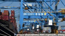 China Qingdao - Containrehafen (picture-alliance/Xinhua News Agency/XL. Ziheng)