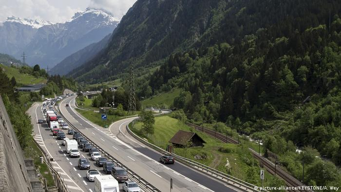 People had to wait up to five hours in the traffic jam