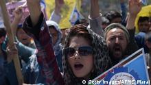 Afghanistan Frauen Protest in Kabul gegen die Regierung