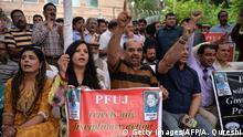 Pakistan Protest in Unterstützung für die Zeitung Dawn News