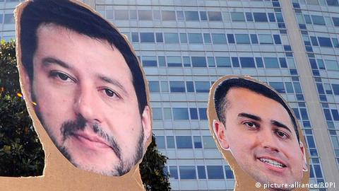 Cut-outs of Di Maio and Salvini