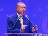 Президент Туреччини Реджеп Таїп Ердоган під час виступу в Сараєві