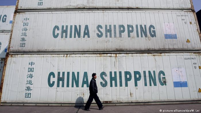 China Containerhafen in Shanghai (picture-alliance/dpa/W. Lei)