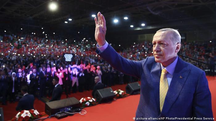 Erdogan at a rally in Sarajevo