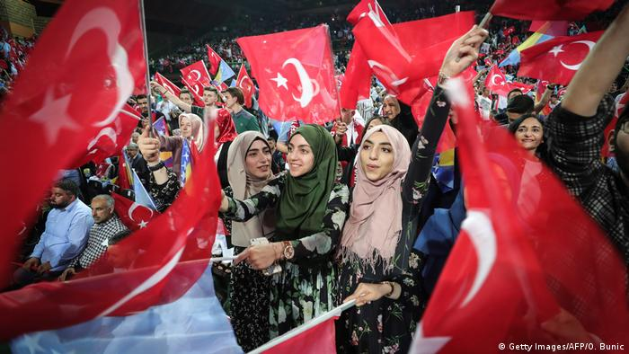 Bosnien Sarajevo Erdogan Wahlkampfveranstaltung