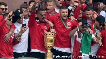 Römer Pokalfeier Eintracht Frankfurt DFB-Pokal