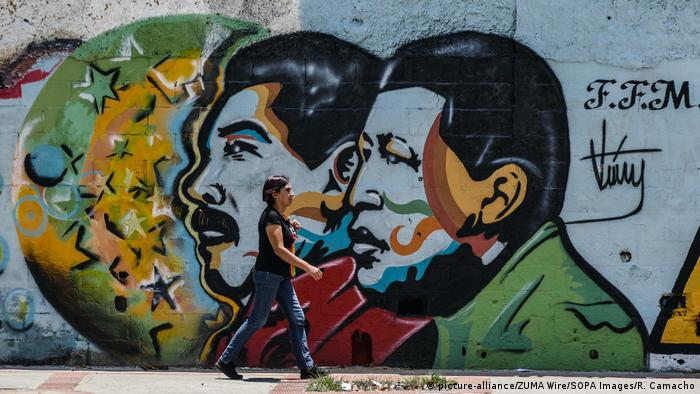 Venezuela Streetart in Caracas (picture-alliance/ZUMA Wire/SOPA Images/R. Camacho)